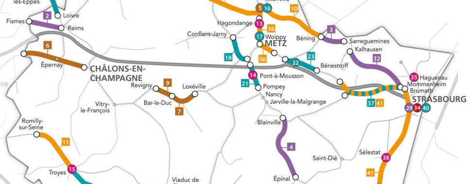 carte sncf grand est Les principaux chantiers en 2019 en Grand Est sur le réseau