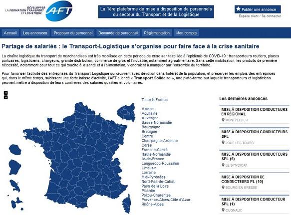 Transport solidaire, la 1ère plateforme de mise à disposition de personnels du secteur du transport et de la logistique