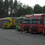 Camions arrêtés sur une aire de repos (Landgraben)