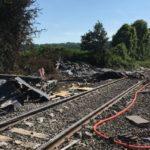 Accident entre un train de fret et un convoi exceptionnel à Rumigny (08), le 16 juin 2021
