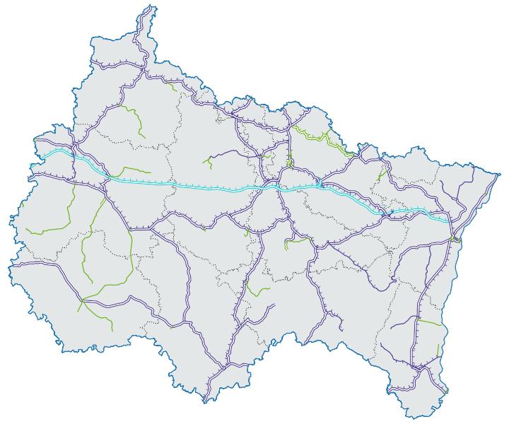 Carte du réseau ferré en Grand Est