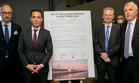 Signature du Pacte pour le développement du fret ferroviaire